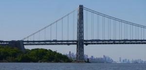 George Washington Bridge - melihat kembali Manhattan